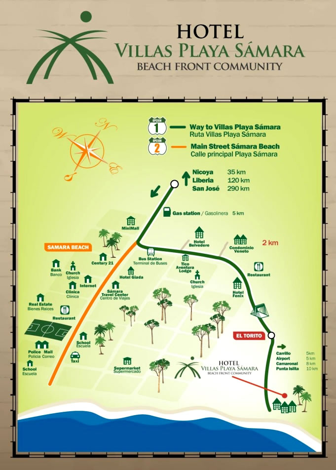Location Villas Playa Samara Beach Front Resort All